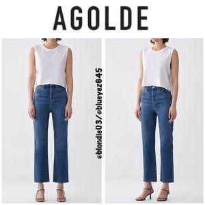 Agolde Pinch Waist High Rise Kick Jeans 28